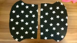 2x Jerseystoffteile für Außenseite Kinderhalstuch